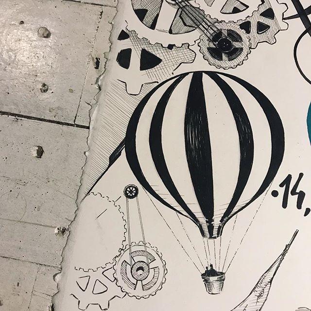 Hace una semanita... Cartel #camponaraya , #ilustración a #tinta @sakura_europe sobre #moulinduroy @cansonpaper 100% algodón..Starting an #ink #illustration . #sakurapigma #markers on #canson #paper .